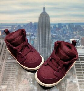 Nike Jordan 1 Mid BT Bordeaux/Sail TD Toddler Size 6c 640735 625 New