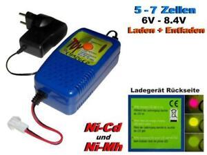 Lade - Entladegerät für Ni-Cd und Ni-Mh Akkupacks von 5 bis 7 Zellen...