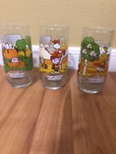 McDonalds Camp Snoopy Drinking Glasses Charlie Brown Peanuts Set Of 3