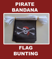 Pirate Flag Bunting 6 Meters Long 20 Flags Red Bandana Pirates Flags Party
