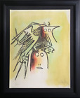 Wifredo Lam, El Casquee (She with Helmet) from the Pleni Luna Suite, Lithograph,