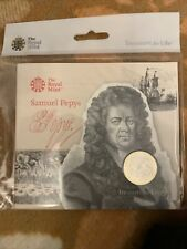 Samuel Pepys 2 Pound Coin 2019 350th Anniversary Royal Mint Packaged