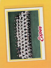 1978 TOPPS BASEBALL MONTREAL EXPOS TEAM #244 UNMARKED NMMT *63482