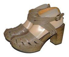 Fiorentini + Baker Closed Toe Platform Heels Ankle Strap Sandals Womens Sz 9.5M