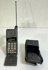 """Vintage Motorola Mobile Flip Cell Phone 76521WARSA With Leather Case """"AS IS"""""""