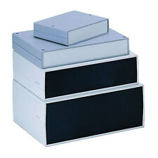 Abs instrumento Funda 300x200x75mm Aluminio Panel de extremo caja caja de plástico