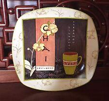 """Sakura TEA HOUSE Dessert Salad Plate Chai Tea 8"""""""