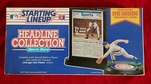 1992 SLU RYNE SANDBERG Chicago Cubs Team HOF Starting Lineup vtg NOS 90s