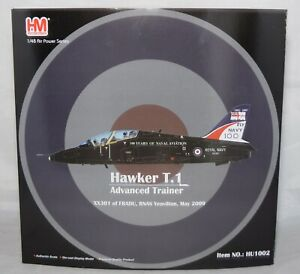 HOBBY MASTER HU1002 HAWKER T1 TRAINER XX301 OF FRADU 100 YEAR SCHEME 1:48 SCALE