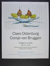2004 Claes Oldenburg Coosje van Bruggen Images a la Carte exhibition vintage Ad