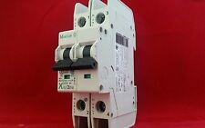 Moeller FAZ-C6/2-NA 6A 6AMP C Tipo C6 Doble Polo Interruptor Fusible DP 2P Reja de desminado Nuevo
