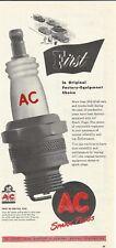1948 AC Spark Plugs Original Print Ad Advertisement