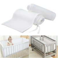 Baby Breathable Air Mesh Washable Crib Liner Wrap Nursery Cot Bed Bumper Set