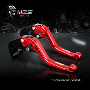 MZS Short Brake Clutch Levers for Ninja ZX6R ZX7R ZX9R ZX10R ZX12R Kawasaki Red