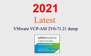 VMWARE VCP-AM 2V0-71.21 dump latest questions (1 month update)
