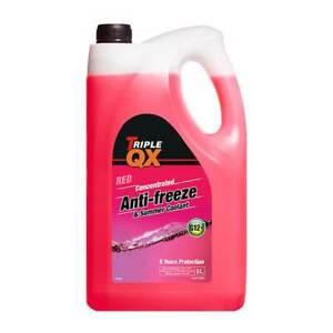 Triple QX 5L Antifreeze Summer Coolant 5 Litre Red Concentrate