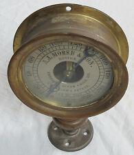 1857 Patent American Steam Gauge A. J. Morse & Son Boston Brass Vtg Old Antique