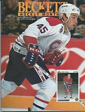 June 1992 Beckett Hockey Price Guide NHL  #20 Gilbert Dionne