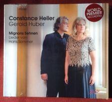 Neu! HANS SOMMER Lieder MIGNONS SEHNEN Constance Heller/Gerold Huber 2018 1 CD