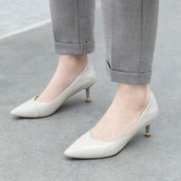 Ladies Classic Kitten Heel Pumps Pointed Toe Casual Office Lady Work Party Shoes