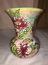 Royal Doulton chrysanthemum Vase D 6299 Lusterware England 1950s Mid Century Mod