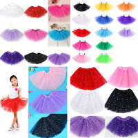 Girls Kids Tutu Skirt Princess Party Ballet Dance Wear Dress Pettiskirt Costume