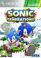 Sonic Generations Classics Xbox 360 X360 Game &