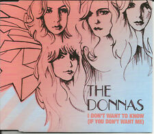 THE DONNAS I don't want to know w/ UNRELEASED TRK CD single SEALED USA Seller