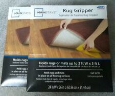2 MAINSTAYS Rug Gripper - Holds Rugs Or Mats in Place 2 X 3, CUT TO FIT New
