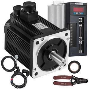 2KW SERVOMOTOR NEMA 52 7.7NM 2500U /min SERVOTREIBER + Kabel für CNC Maschine