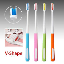 2 pcs Orthodontic V-Shaped Toothbrush(Assorted Colors)