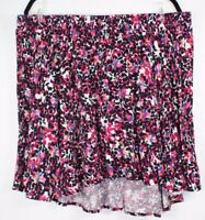 Torrid Women's Floral Pleated Skater Drawstring Skirt  Multi-color Size 3