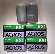 Expired Fujifilm Neopan 100 Acros 135-36 Exp. Film For Black & White Prints Qt.6