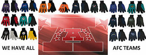 NWT NFL All AFC Teams No Slip Utility Work Gloves With 3D Team Logo