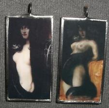 SIN / SENSUALITY GOTH DOUBLE SIDED ART GLASS PENDANT