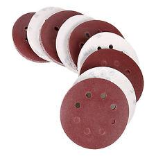 """100PC 120 Grit 5"""" 8 Hole Sanding Disc Random Orbit Hook & Loop Sandpaper Sander"""