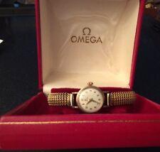 1950's Ladies Omega 9ct Gold 244 Calibre 17 Jewel Wristwatch-Original Omega Box