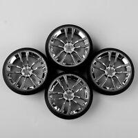 4Pcs RC Drift Tires&Wheel Rim 5° 12mm Hex For 1:10 On-Road Car KF/SBDC+PP0370