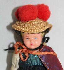 Vintage Hungarian Hard Plastic Doll Nice Costume!