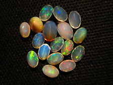 5 Ct. 17 Pcs Natural Fire Play Ethiopian Opal Faceted Gemstone Size 4X6 MM CO-10