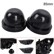 2pcs 85mm Inner Dia Rubber Housing Seal Cap Dust Cover For Car LED HID Headlight