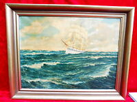 Schönes,altes Gemälde__Segelschiff__signiert : F.Gotthardt !