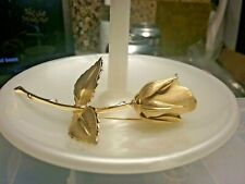 Vintage Jewelry:Giovanni Gold Tone Rose  Broach 2016070803
