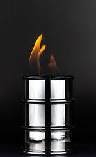 Öllampe FIRE CONCEPT Barrel Brennkammer Feuertonne für Brenngel in Chrom 3316