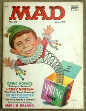 MAD Magazine #33 June 1957! VERY GOOD-! 3.5 $0.99 Start! SOLID Copy-Basic Wear!