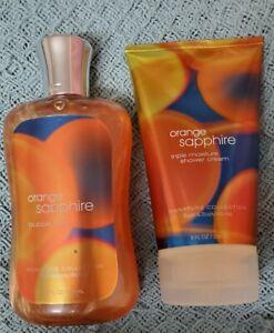 Bath & Body Works Orange Sapphire Bubble Bath and Triple Moisture Shower Cream