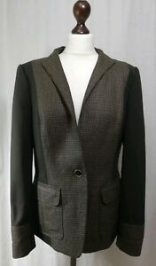 Ted Baker Brown Herringbone/Tweed Panel Jacket Wool, Stunning Lining BNWOT (AB7)