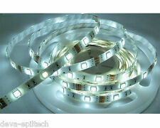 STRISCIA LED SMD 5050 300LED 5MT STRIP LED - LUCE FRED - C/ALIMENTATORE 5A IP66