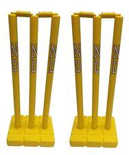 Kwik Cricket Stump Set Plastic Wicket Stumps With Base Indoor Outdoor Garden x 2