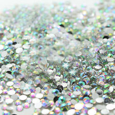1000x White Diamond Gems 3D Tips For Nail Art cell phone shell Decor DIY